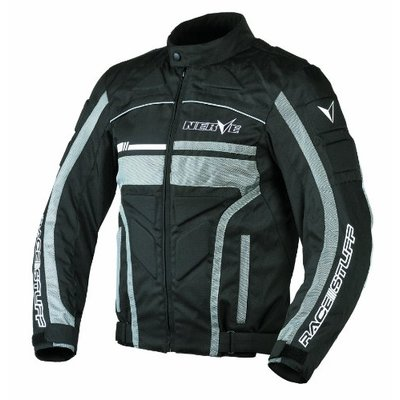 NERVE 1511071104_07 Race Stuff Motorcycle Jacket, Black, 3XL