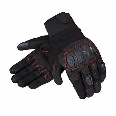 JET Motorcycle Motorbike Gloves Summer Vented Hard Knuckle Touch Screen Gloves Men ATV Riding ECCO (2XL, Black)