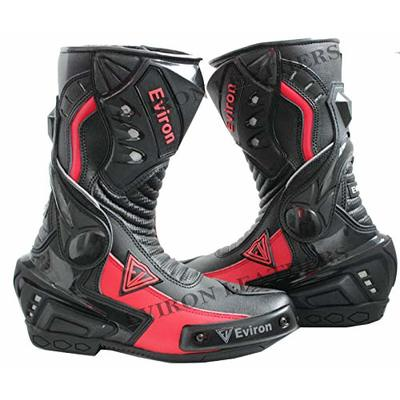 Black & Red Motorbike Protective Boots (UK 11 (Euro 45))