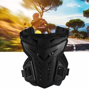 Asdomo Motorcycle Body Protective Jacket Guard Motorbike Motorcross Armour Armor Racing Clothing Protection Gear, Black and Red