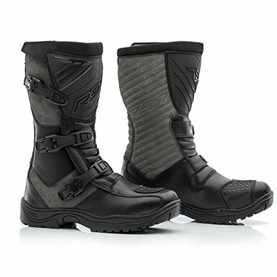 RST 102342 Raid Mens Leather Motorcycle Boot – Black/Grey