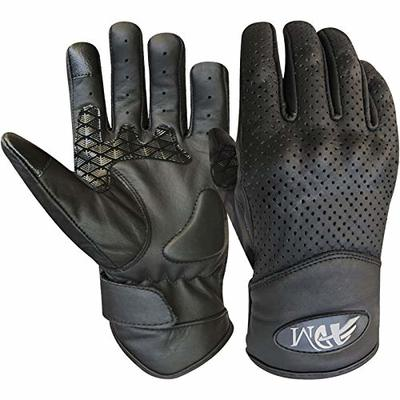 Prime motorbike motorcycle racing sports gloves with silicon grip & I touch black colour 9006 (Black, XL)