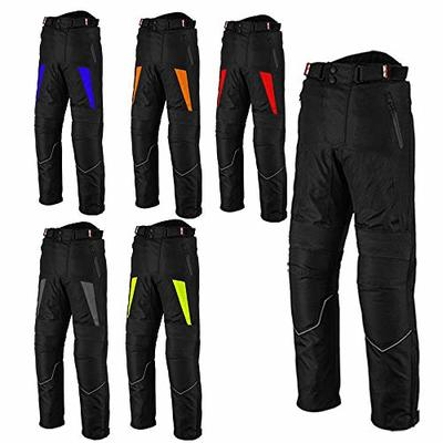 Motorbike Trouser Mens-Motorcycle Waterproof Cordura Textile Trousers Pants Armours For Men's Boys – Blue- 4XL