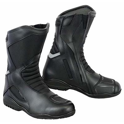 Motorbike Boots Motorcycle Shoes Biker Racing Stylist Short Ankle Boot Motorcycle Track Touring Shoes Waterproof Armoured for Mens Boys Rider