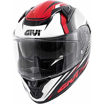 Givi Hps 50.6 Stoccarda Full Face Helmet Graphics Glade Painted Black/Red Size 63/XXL | H506FGDBR63
