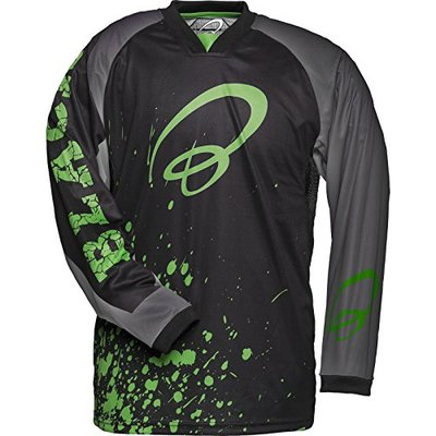 Black MX Splat Motocross Jersey M Green