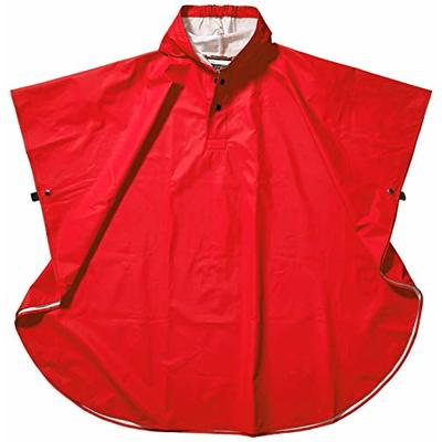 Charles River Apparel Kids' Pacific Poncho, Red, One Size