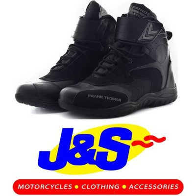 Frank Thomas MXW010 SHORT MOTORCYCLE BOOTS ANKLE MOTORBIKE BOOT SIZE J&S (EURO 42 / UK 8)
