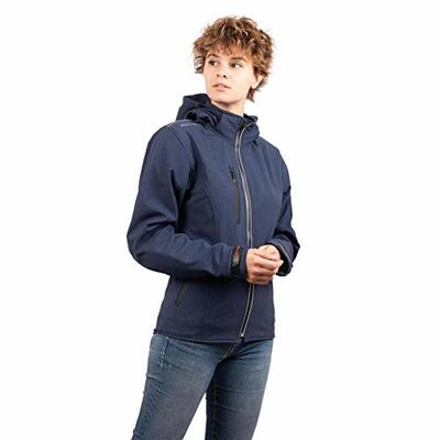 Rider-Tec Urban Girly Softshell Blue Motorcycle Jacket – CE Approved Armours Included – Lightweight & Breathable – Size S