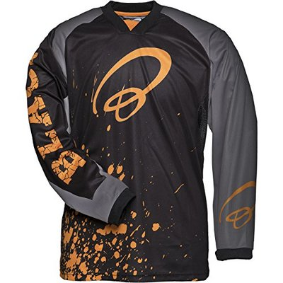 Black MX Splat Motocross Jersey L Orange