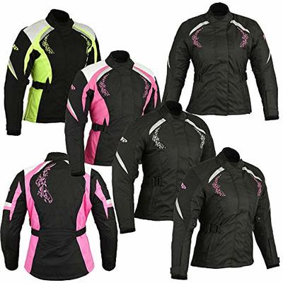 Women Motorbike Motorcycle Armored Textile Cordura Waterproof Jacket Coat For Ladies | Size 5X Large