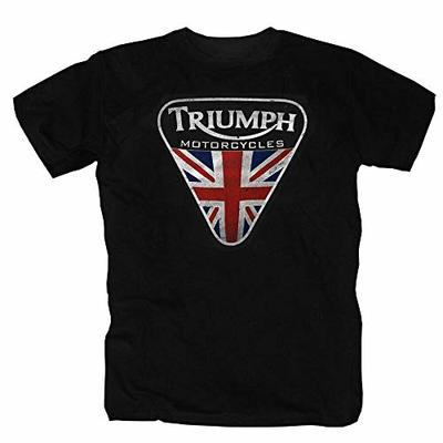 Triumph Motorcycles England Union Jack Great Britain Motorcycle UK T-Shirt Black