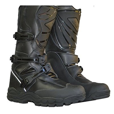 RKsports Adventure Motorcycle Motorbike Leather Protective Boots (7)