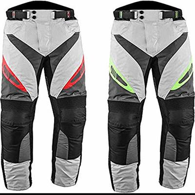 PROFIRST Textile Motorbike Motorcycle Trouser CE Approved Protective Armours All Weather Waterproof Breathable Mens Motorcycle Pant with Removable Lining (Flourocent green, XL)
