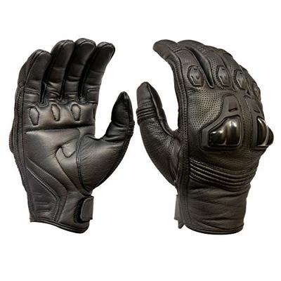 Royal Men Gear Premium Leather Motorbike Motorcycle Gloves Touch Screen Gloves with Knuckle Protection Racing gloves Riding Gloves (Medium)