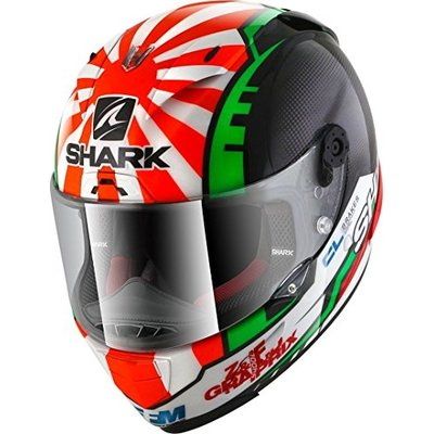 SHARK Men's NC Motorcycle Helmet, Noir/Rouge, L