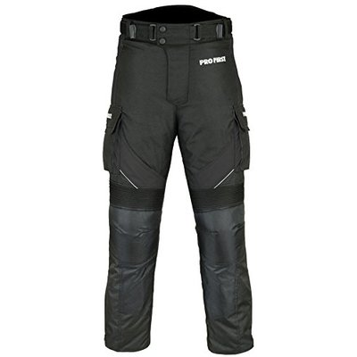 PROFIRST TR-001 | CE Approved Armoured Motorbike Motorcycle Trouser Pant Waterproof – Removable Lining – Big Pocket Design – Short Length Inside Leg 29 inch (Black & Full Black, X-Large 36 Waist)