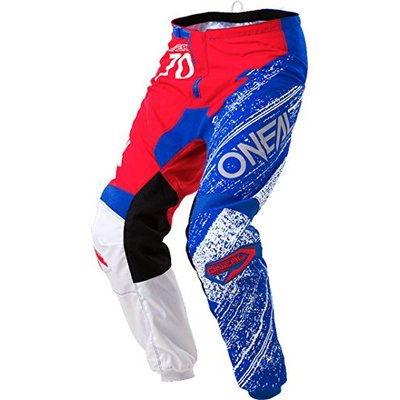 0108-634 – Oneal Element 2018 Burnout Motocross Pants 34 Red White Blue