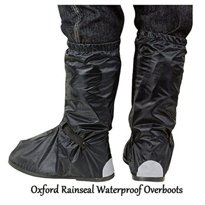 MOTORBIKE OXFORD RAINSEAL WATERPROOF OVERBOOTS Motorcycle Scooter Rain Safety Over Boots – S (39-41)