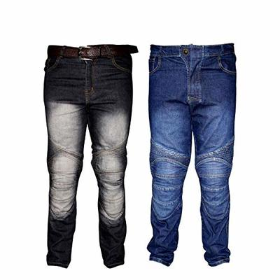 REXTEK Motorbike Motorcycle Armoured Jeans Pant Denim Trousers with Safety Protection – Jeans with 2X Knee Guards 2X Hip Guards for Men Boys/Size L Waist – 34