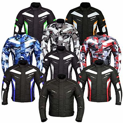 JKT-007   Waterproof Motorbike Motorcycle Jacket in Cordura Fabric and CE Approved Armour – 6 Packs Design Most Popular (Black & Green, 6X-Large)