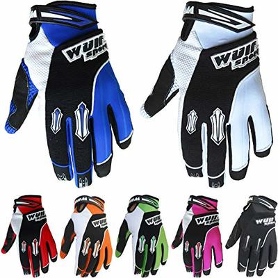 Wulfsport Adult Stratos MX Motorbike Gloves Motocross Sports Off Road Racing Gloves – Blue M