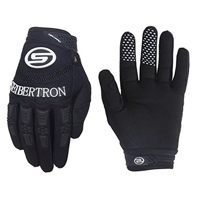 Seibertron Dirtpaw Men's Profesional Bicycle MTB Racing Off-road/Dirt bike Sports Gloves (BLACK, XL)