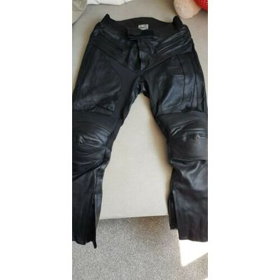 Leather Motorbike Motorcycle Trousers Sports Biker Mens Racing CE Armoured Pants