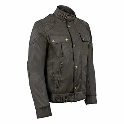Gallanto Classic Brown Waxed Cotton Motorcycle Jacket Textile Biker Introductory Price (M)