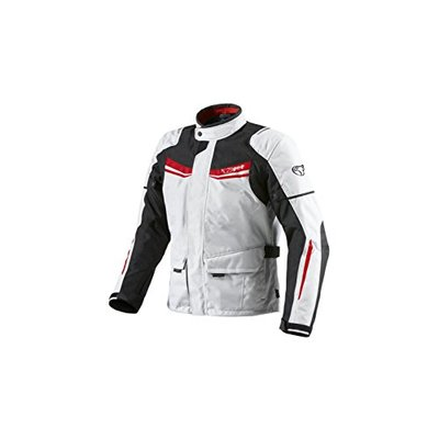 JET Mens White Textile Protective Motorcycle Motorbike Jacket Waterproof CE Armoured (M (38″ – 40″), Red/White)