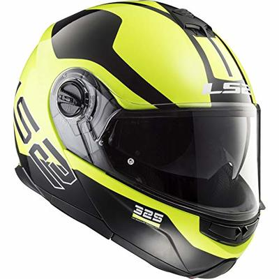 LS2 Motorcycle Helmets-Strobe Zone, Black/Yellow, Size M