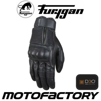 FURYGAN JAMES D3O TOURING/COMMUTING TEXTILE/LEATHER MOTORCYCLE GLOVE BLACK