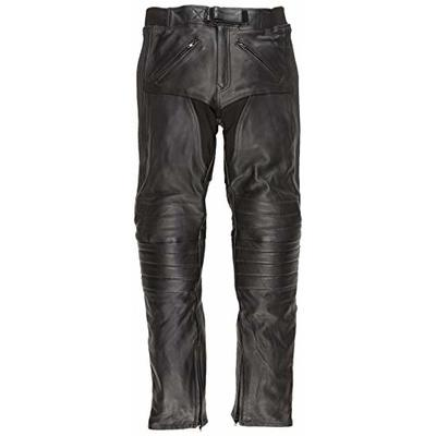 Bikers Gear Australia Mens Soft Premium Leather Motorcycle Touring Trousers Comfortable Fitting Leather Pants with CE 1621-1 Armour UK 36 S EU 46 S XL