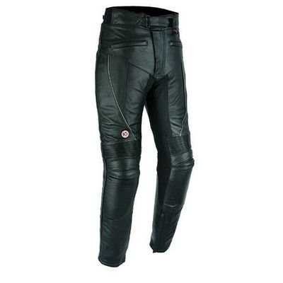 Leather Motorbike Trousers With CE Armour Biker Racing