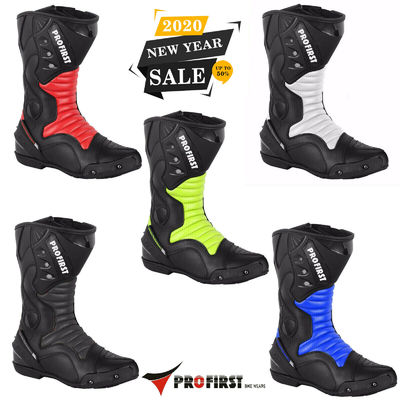 Pro First Motorbike Waterproof Boots Motorcycle Upper Leather Protection Shoes