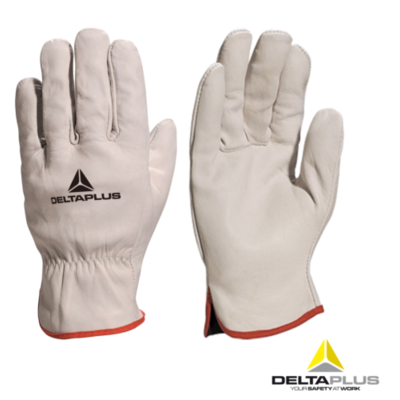 Delta Plus Venitex Grey Full Grain Leather Top Quality Safety Work Gloves FBN49