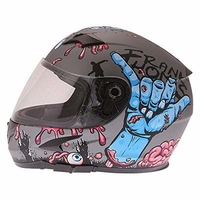 Frank Thomas FT36SV Zombie Full Face Motorcycle Helmet Grey J&S (S)