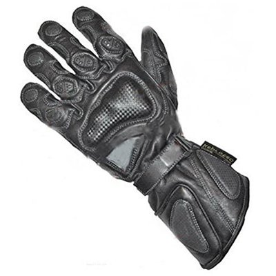 Juicy Trendz® Mens Motorbike Cowhide Leather Motorcycle Biker Gloves