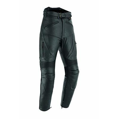 Mens Texpeed Black Leather Motorcycle Touring Jeans/Trousers – Armoured – (40W / 34L)