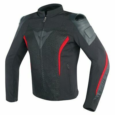 Dainese Mig Mens Leather/Textile Jacket Black/Red