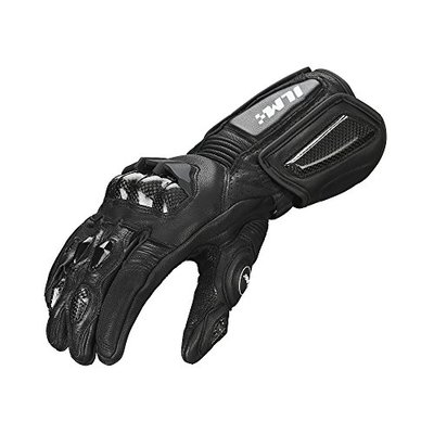 ILM Air Flow Leather Motorcycle Gloves For Men and Women (L,Black,Winter)