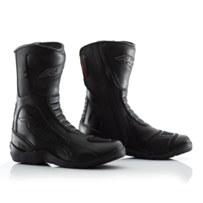 RST Tundra Leather WaterProof Motorcycle Boots – CE APPROVED – Black