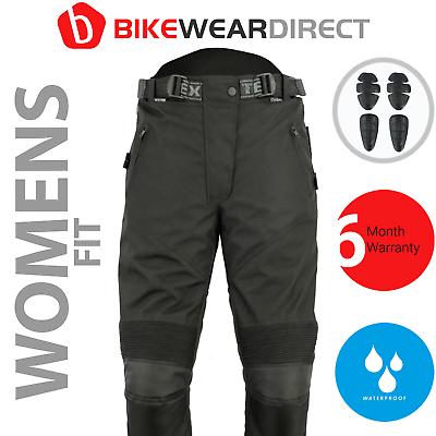 Womens Motorbike Motorcycle Trousers With Armour Waterproof Ladies Biker Thermal