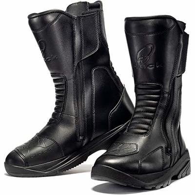 Black Route WP Touring Motorcycle Boots 44 Black (UK 10)