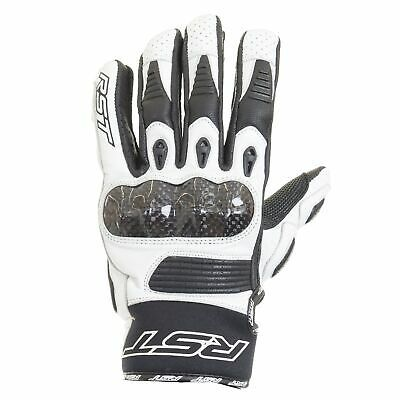 RST Freestyle Leather Motorcycle Motorbike Gloves – CE APPROVED – White