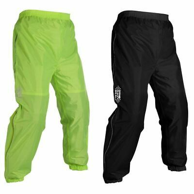 Oxford Motorcycle Bike Rainseal Over Trousers Black Fluorescent Yellow New