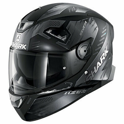 Shark Skwal 2.2 Venger White LED Black / Anthracite Motorcycle Motorbike Helmet