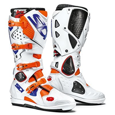 Sidi Sidi Crossfire 2 SRS Motorcycle Boot, Orange Fluo/White/Blue, Size 45
