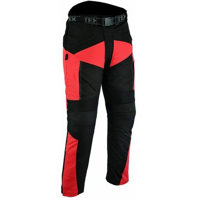 Texpeed XTRA Breathable Armoured Motorcycle Motorbike Trousers – RED 38W 32L