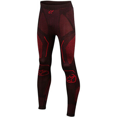 Alpinestars Ride Tech Summer Motorcycle Motorbike Base Layer Pants – Black/Red